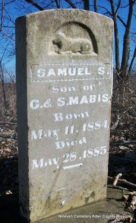 MABIS, SAMUEL S - Adair County, Missouri | SAMUEL S MABIS - Missouri Gravestone Photos