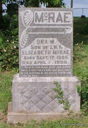 MCRAE, ORA W - Adair County, Missouri | ORA W MCRAE - Missouri Gravestone Photos