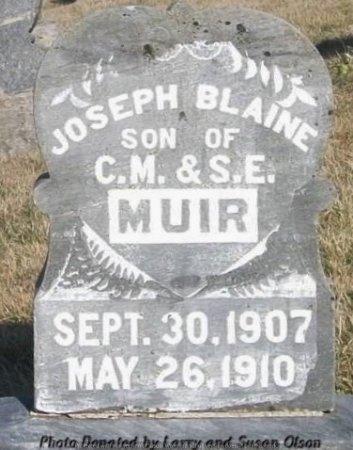 MUIR, JOSEPH BLAINE - Adair County, Missouri | JOSEPH BLAINE MUIR - Missouri Gravestone Photos