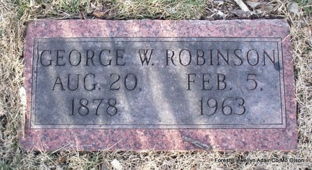 ROBINSON, GEORGE W - Adair County, Missouri | GEORGE W ROBINSON - Missouri Gravestone Photos
