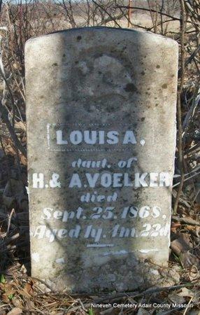 VOELKER, LOUISA - Adair County, Missouri | LOUISA VOELKER - Missouri Gravestone Photos