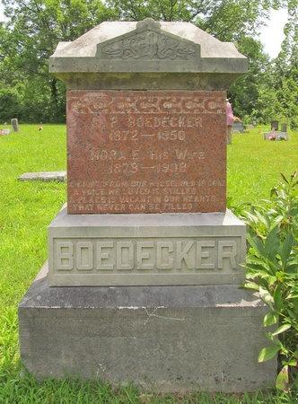 BOEDECKER, NORA E - Barry County, Missouri | NORA E BOEDECKER - Missouri Gravestone Photos