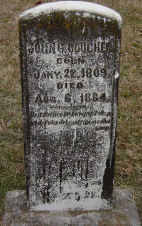 BOUCHER, JOHN G - Barry County, Missouri   JOHN G BOUCHER - Missouri Gravestone Photos