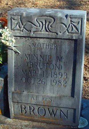 BRUTON BROWN, MINNIE M - Barry County, Missouri   MINNIE M BRUTON BROWN - Missouri Gravestone Photos