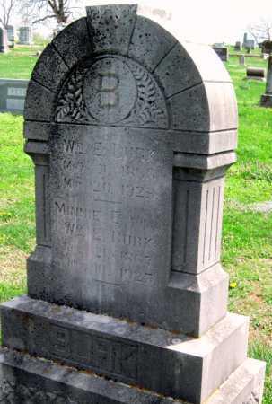 BURK, MINNIE ELLEN - Barry County, Missouri | MINNIE ELLEN BURK - Missouri Gravestone Photos