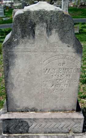 BURTON, W T - Barry County, Missouri   W T BURTON - Missouri Gravestone Photos