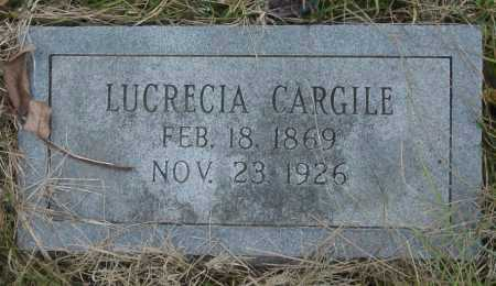 CARGILE, LUCRECIA - Barry County, Missouri | LUCRECIA CARGILE - Missouri Gravestone Photos