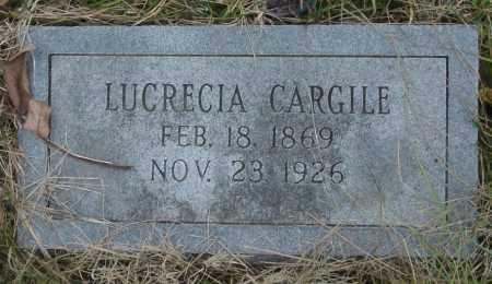 ROLLER CARGILE, LUCRECIA - Barry County, Missouri | LUCRECIA ROLLER CARGILE - Missouri Gravestone Photos