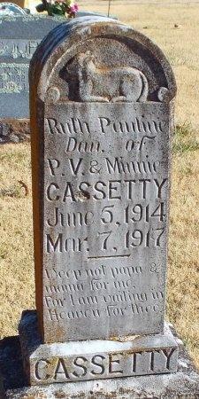 CASSETTY, RUTH PAULINE - Barry County, Missouri | RUTH PAULINE CASSETTY - Missouri Gravestone Photos