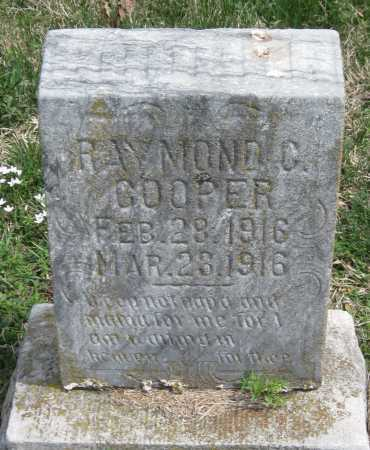 COOPER, RAYMOND C - Barry County, Missouri | RAYMOND C COOPER - Missouri Gravestone Photos