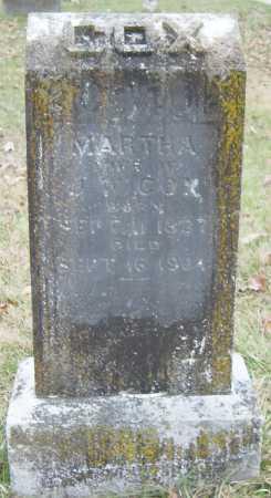 COX, MARTHA - Barry County, Missouri | MARTHA COX - Missouri Gravestone Photos