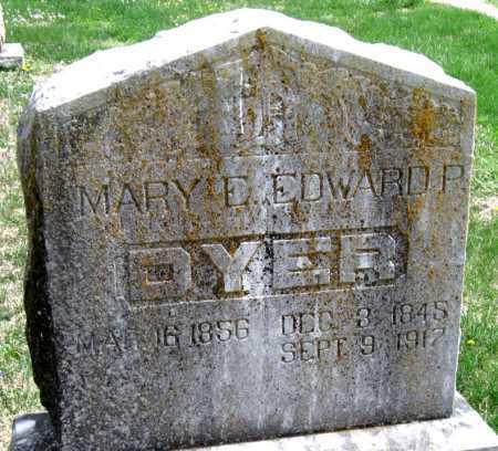 DYER, EDWARD P - Barry County, Missouri | EDWARD P DYER - Missouri Gravestone Photos