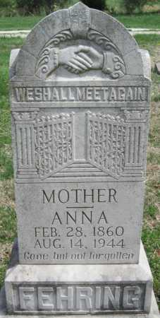 FEHRING, ANNA BERTHA - Barry County, Missouri | ANNA BERTHA FEHRING - Missouri Gravestone Photos