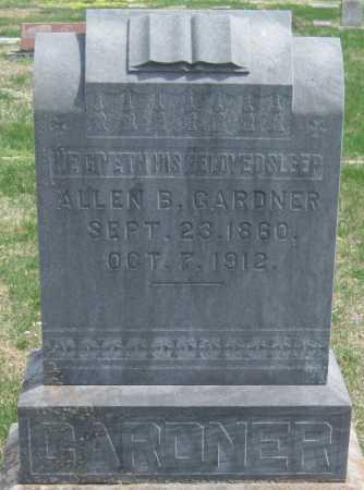 GARDNER, ALLEN B - Barry County, Missouri | ALLEN B GARDNER - Missouri Gravestone Photos