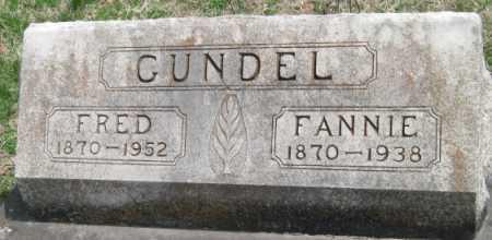 GUNDEL, FANNIE - Barry County, Missouri | FANNIE GUNDEL - Missouri Gravestone Photos