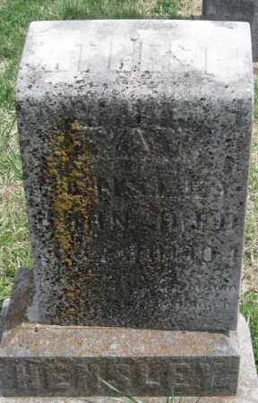 HENSLEY, RAY - Barry County, Missouri | RAY HENSLEY - Missouri Gravestone Photos