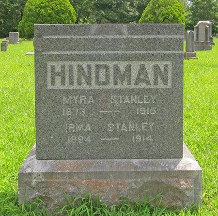 HINDMAN, IRMA STANLEY - Barry County, Missouri | IRMA STANLEY HINDMAN - Missouri Gravestone Photos
