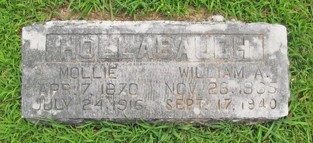 HOLLABAUGH, WILLIAM A - Barry County, Missouri | WILLIAM A HOLLABAUGH - Missouri Gravestone Photos