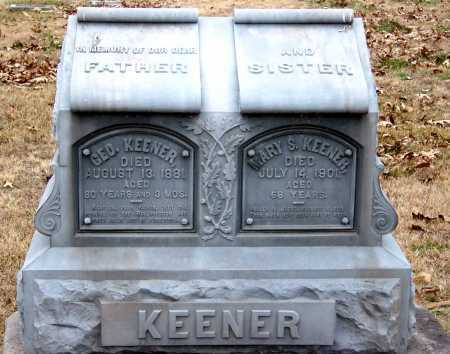 KEENER, MARY S - Barry County, Missouri | MARY S KEENER - Missouri Gravestone Photos