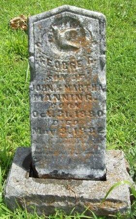 MANNING, GEORGE G. - Barry County, Missouri | GEORGE G. MANNING - Missouri Gravestone Photos