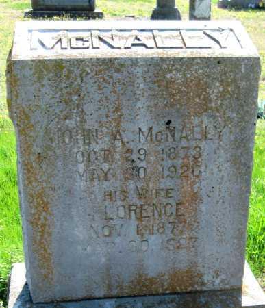 MCNALLY, FLORENCE E - Barry County, Missouri   FLORENCE E MCNALLY - Missouri Gravestone Photos