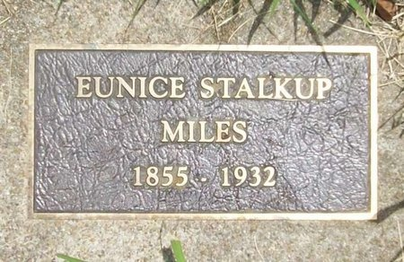 STALKUP MILES, EUNICE - Barry County, Missouri | EUNICE STALKUP MILES - Missouri Gravestone Photos