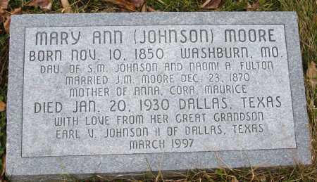 MOORE, MARY ANN - Barry County, Missouri | MARY ANN MOORE - Missouri Gravestone Photos