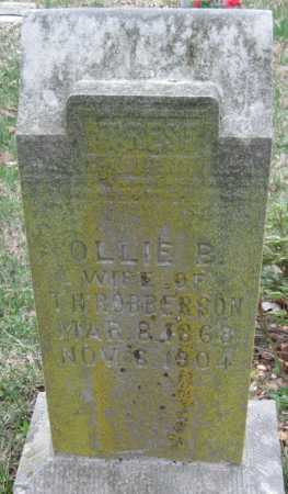 ROBBERSON, OLLIE B - Barry County, Missouri | OLLIE B ROBBERSON - Missouri Gravestone Photos