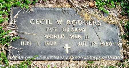 RODGERS, CECIL W (VETERAN WWII) - Barry County, Missouri | CECIL W (VETERAN WWII) RODGERS - Missouri Gravestone Photos