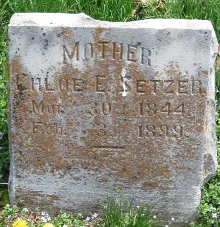 SETZER, CHLOE E - Barry County, Missouri | CHLOE E SETZER - Missouri Gravestone Photos