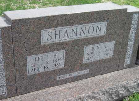 SHANNON, BEN H - Barry County, Missouri   BEN H SHANNON - Missouri Gravestone Photos