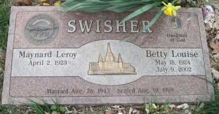 SWISHER, BETTY LOUISE - Barry County, Missouri | BETTY LOUISE SWISHER - Missouri Gravestone Photos