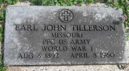 TILLERSON, EARL JOHN (VETERAN WWI) - Barry County, Missouri | EARL JOHN (VETERAN WWI) TILLERSON - Missouri Gravestone Photos