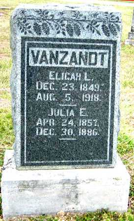 VANZANDT, JULIA E - Barry County, Missouri | JULIA E VANZANDT - Missouri Gravestone Photos