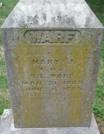 "WARF, MARY JANE ""MOLLIE"" - Barry County, Missouri 