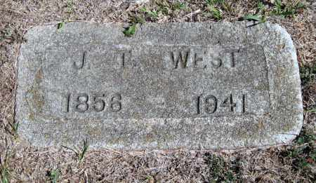 WEST, JOSEPH T - Barry County, Missouri | JOSEPH T WEST - Missouri Gravestone Photos