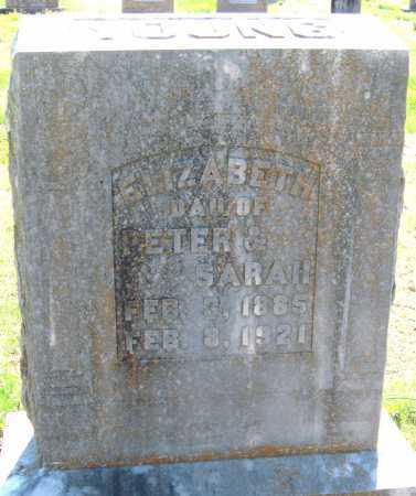 YOUNG, ELIZABETH - Barry County, Missouri | ELIZABETH YOUNG - Missouri Gravestone Photos
