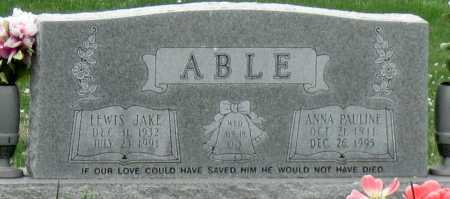 ABLE, LEWIS JAKE - Barry County, Missouri | LEWIS JAKE ABLE - Missouri Gravestone Photos