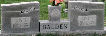 BALDEN, ELMER JOSEPH - Barry County, Missouri | ELMER JOSEPH BALDEN - Missouri Gravestone Photos