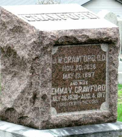 CRAWFORD, EMMA V - Barry County, Missouri | EMMA V CRAWFORD - Missouri Gravestone Photos