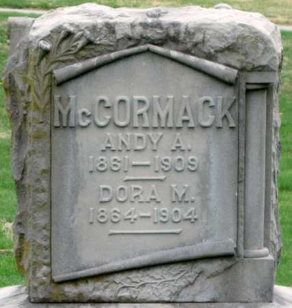 MCCORMACK, ANDY A - Barry County, Missouri | ANDY A MCCORMACK - Missouri Gravestone Photos