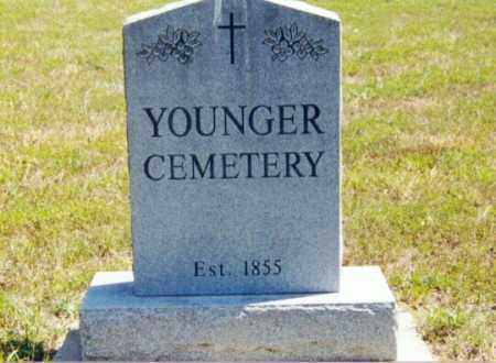 *YOUNGER CEMETERY, SIGN - Cedar County, Missouri | SIGN *YOUNGER CEMETERY - Missouri Gravestone Photos