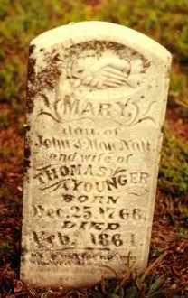 YOUNGER, MARY - Cedar County, Missouri | MARY YOUNGER - Missouri Gravestone Photos