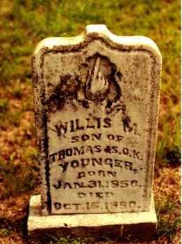 YOUNGER, WILLIS M. - Cedar County, Missouri | WILLIS M. YOUNGER - Missouri Gravestone Photos