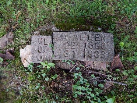ALLEN, CLARA - Christian County, Missouri | CLARA ALLEN - Missouri Gravestone Photos