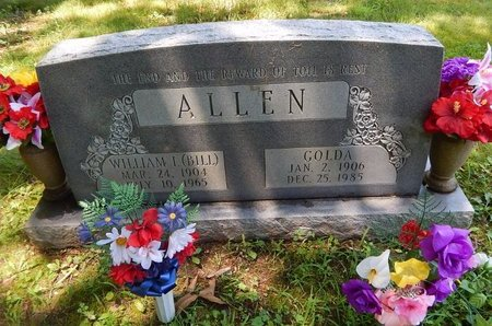 ALLEN, GOLDA - Christian County, Missouri | GOLDA ALLEN - Missouri Gravestone Photos