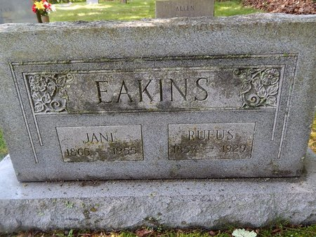 EAKINS, JANE - Christian County, Missouri | JANE EAKINS - Missouri Gravestone Photos