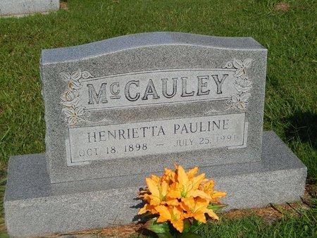 MCCAULEY, HENRIETTA PAULINE - Christian County, Missouri | HENRIETTA PAULINE MCCAULEY - Missouri Gravestone Photos