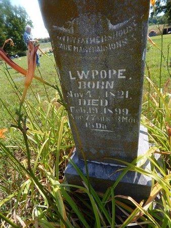 POPE, L W (CLOSE-UP) - Christian County, Missouri   L W (CLOSE-UP) POPE - Missouri Gravestone Photos