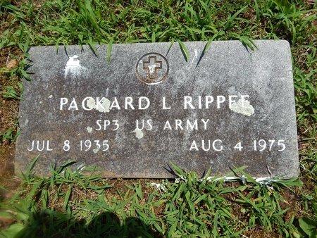 RIPPEE, PACKARD L (VETERAN) - Christian County, Missouri | PACKARD L (VETERAN) RIPPEE - Missouri Gravestone Photos